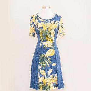 Sami & Jo Navy & Yellow Dress S